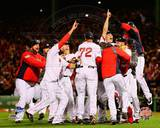 Boston Red Sox - Jon Lester, Clay Buchholz, Koji Uehara, Mike Napoli, David Ross, Mike Carp Photo Photo