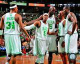 Boston Celtics - Kevin Garnett, Paul Pierce, Ray Allen, Kendrick Perkins, Rajon Rondo Photo Photo