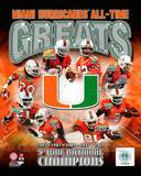 Miami Hurricanes - Jim Kelly, Ray Lewis, Kellen Winslow Jr, Willis McGahee, Andre Johnson, Jonathan Photo