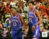 Kansas Jayhawks - Mario Chalmers, Brandon Rush Photo Photo