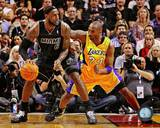 Los Angeles Lakers, Miami Heat - Kobe Bryant, LeBron James Photo Photo