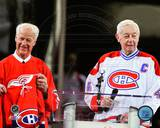 Montreal Canadiens, Detroit Red Wings - Jean Beliveau, Gordie Howe Photo Photo