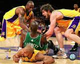 Los Angeles Lakers, Boston Celtics - Kobe Bryant, Kevin Garnett, Pau Gasol, Derek Fisher Photo Photo
