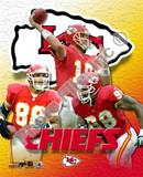 Kansas City Chiefs - Elvis Grbac, Tony Gonzalez, Eric Hicks Photo Photo