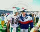 Buffalo Bills, Miami Dolphins - Jim Kelly, Dan Marino Photo Photo
