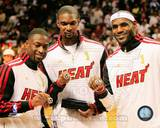 Miami Heat - LeBron James, Dwyane Wade, Chris Bosh Photo Photo