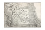 Old Map Of Quillabamba Region, Peru Prints by  marzolino