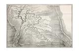 Viejo Mapa de Quillabamba Region, Perú Posters por marzolino