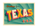 Vintage Touristic Greeting Card Posters by Real Callahan