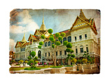 Grand Palace - Bangkok - Retro Styled Picture Poster by  Maugli-l