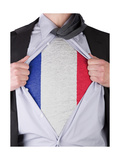 Business Man With French Flag T-Shirt Poster by  IJdema