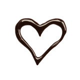 Close Up Chocolate Syrup Heart On White Background Prints by  donatas1205