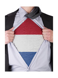 Business Man With Dutch Flag T-Shirt Prints by  IJdema