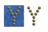 Jeans Rivet Alphabet Letter Y. On Jeans Background And Isolated Prints by  donatas1205