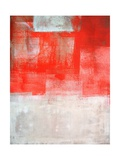 Beige And Coral Abstract Art Painting Posters by  T30Gallery