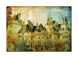 Usse - Fairy Castle Loire' Valley- Picture In Painting Style Print by  Maugli-l