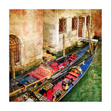 Gondolas Of Amazing Venice - Artistic Picture Prints by  Maugli-l