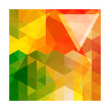 Colorful Mosaic Background Made Of Triangle Shapes Posters by  OlgaYakovenko