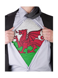 Business Man With Welsh Flag T-Shirt Posters by  IJdema