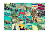 Mosaic With Pictures Of Different Places And Landmarks ポスター :  nito