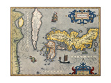 Old Map Of Japan Prints by  marzolino