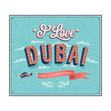Vintage Greeting Card From Dubai - United Arab Emirates Prints by  MiloArt