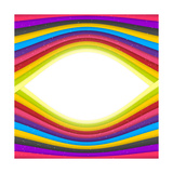 Rainbow Colored Stripes Banner. Abstract Poster by  Aerial3