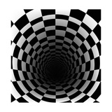 Checkerboard Background With Perspective Effect Prints by  Vlada13