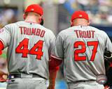 Los Angeles Angels - Mark Trumbo, Mike Trout Photo Photo