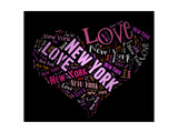 Wordcloud: Love Heart Of City New York Prints by  alanuster
