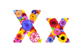Flower Alphabet Isolated On White - Letter X Poster by  tr3gi