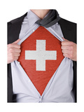 Business Man With Swiss Flag T-Shirt Art by  IJdema
