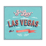 Vintage Greeting Card From Las Vegas - Nevada Prints by  MiloArt