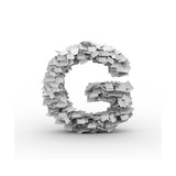 Letter G, Stacked From Paper Sheets Posters by  iunewind