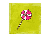 Spiral Lollipop Sweet Candy Prints by Ozerina Anna