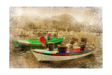 Boats - Artistic Retro Styled Picture Prints by  Maugli-l