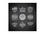 Set Of Retro Bakery Labels Posters by Ozerina Anna