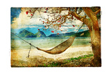 Tropical Scene- Artwork In Painting Style Posters by  Maugli-l