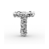 Letter T, Stacked From Paper Sheets Prints by  iunewind