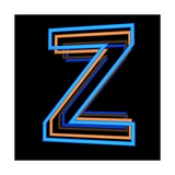 Glowing Letter Z Isolated On Black Background Posters by Andriy Zholudyev