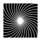 Black And White Hypnotic Background Print by  yganko