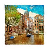 Amsterdam - Artwork In Painting Style Posters af  Maugli-l