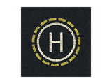 Helicopter Landing Pad Prints by  pashabo
