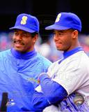 Seattle Mariners - Ken Griffey Jr., Ken Griffey Sr. Photo Photo