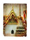 Grand Palace - Bangkok - Retro Styled Picture Prints by  Maugli-l