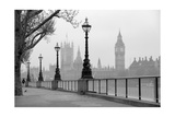 Big Ben And Houses Of Parliament, Black And White Photo Posters av  tombaky