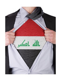 Business Man With Iraqi Flag T-Shirt Prints by  IJdema