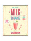 Vintage Milkshake Poster Print by  avean