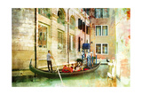 Romantic Venice- Artwork In Painting Style Poster by  Maugli-l
