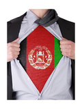 Business Man With Afghan Flag T-Shirt Posters by  IJdema